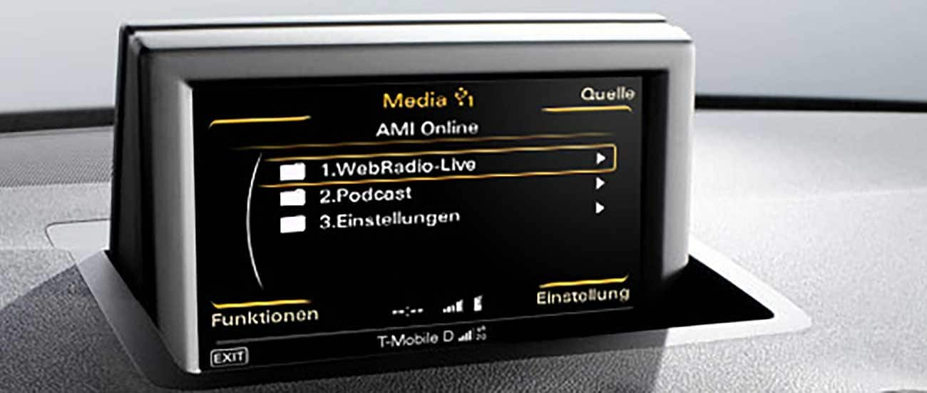 audi music interface online infotainment und kommunikation weitere informationen audi. Black Bedroom Furniture Sets. Home Design Ideas