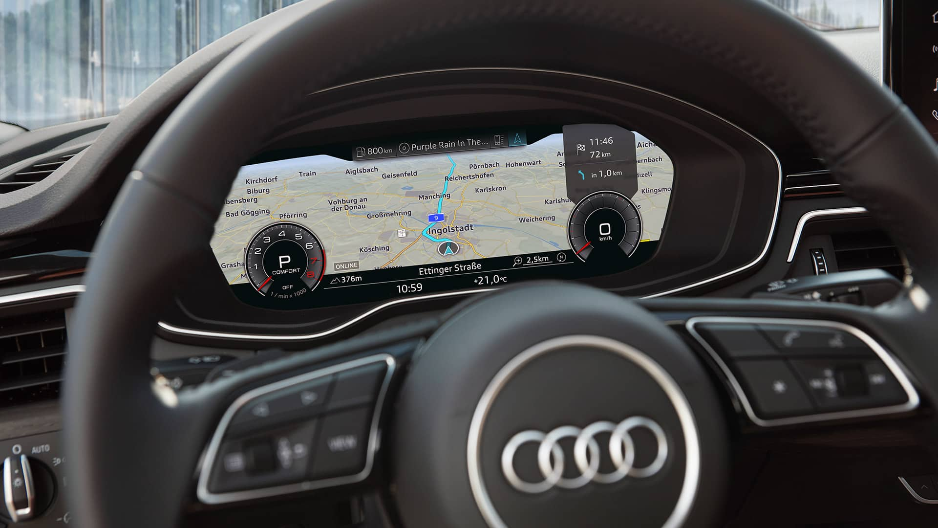 Audi virtual cockpit im Audi A5 Coupé