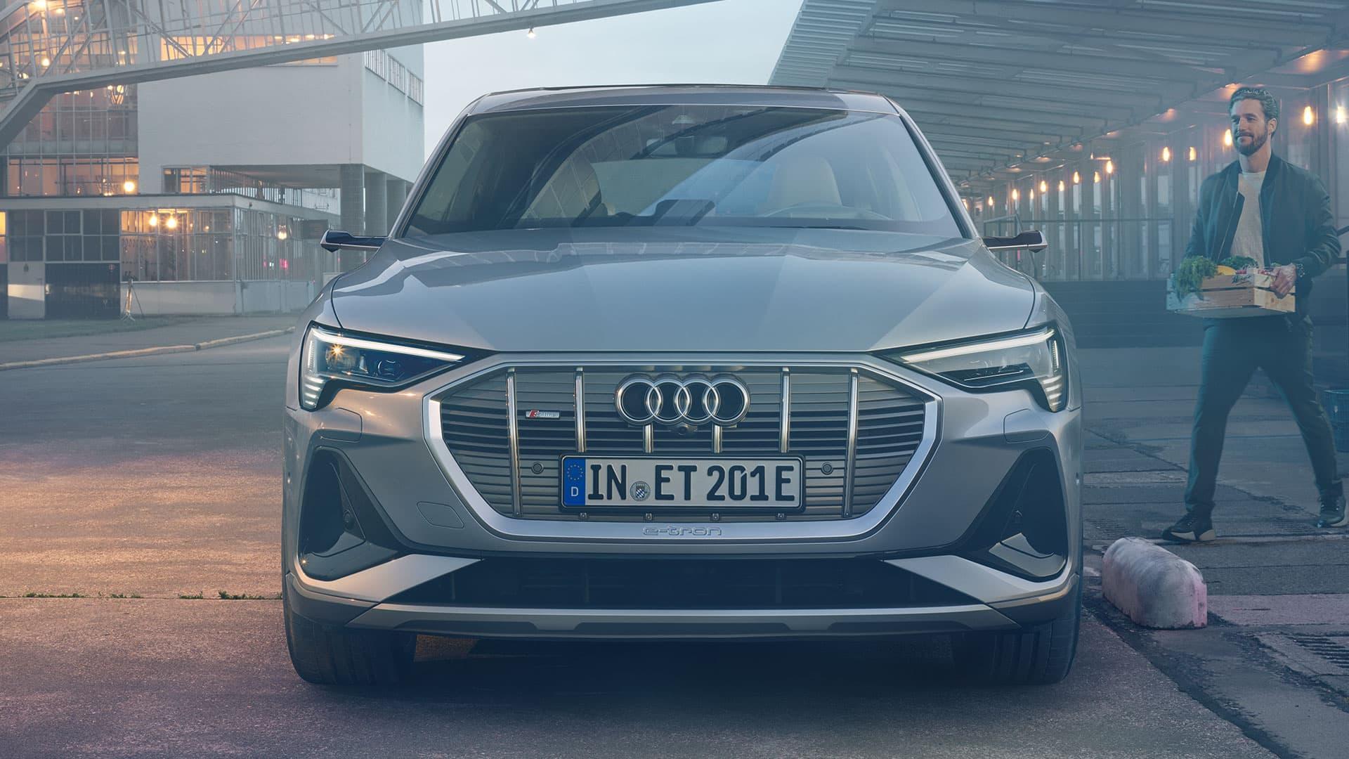 Frontansicht Audi e-tron Sportback