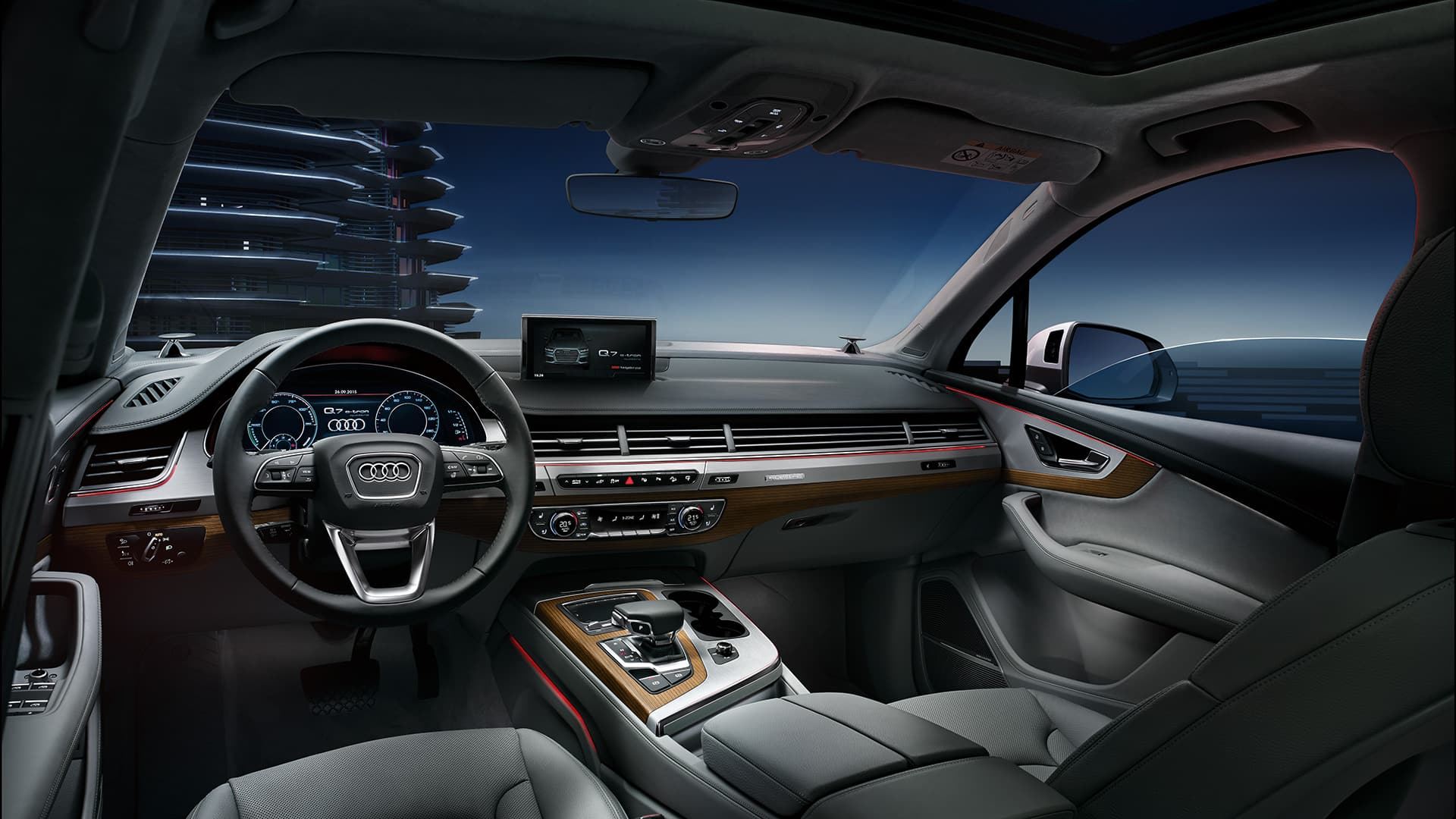Q7 e tron quattro audi deutschland for Interieur q7