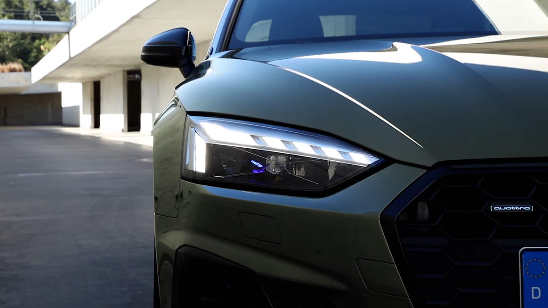 Audi A5 Coupé mit Matrix LED-Scheinwerfer
